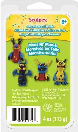 Детски комплект Monster Mania Kit Sculpey, чудовища