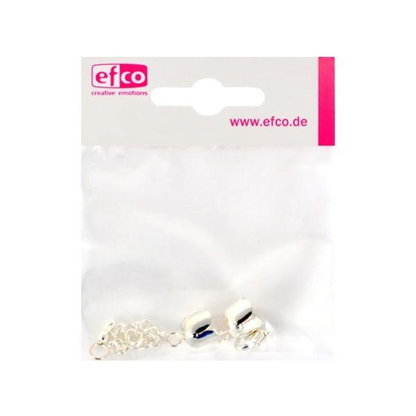 Капачки - накрайници Лале, с верижка за регулиране, 6 mm, посребрени