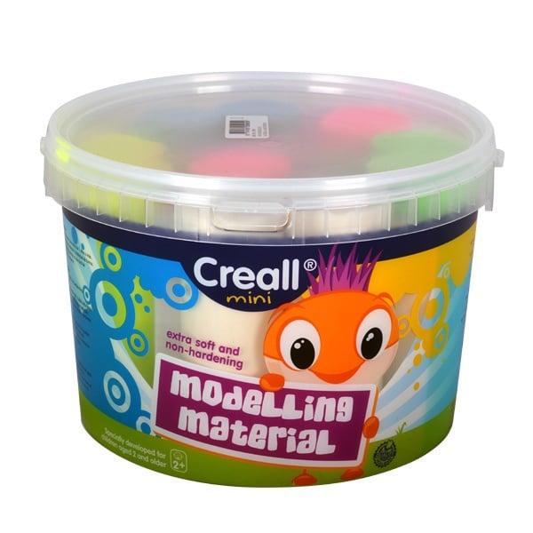 Комплект цветна глина за моделиране CREALL Mini, 1350 g, 5 цв.
