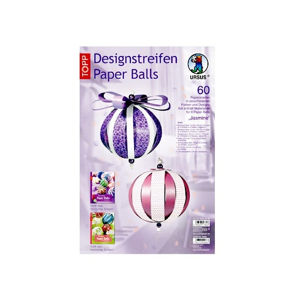 "Комплект, Designstreifen Paper Balls ""Jasmine"", Papierset"