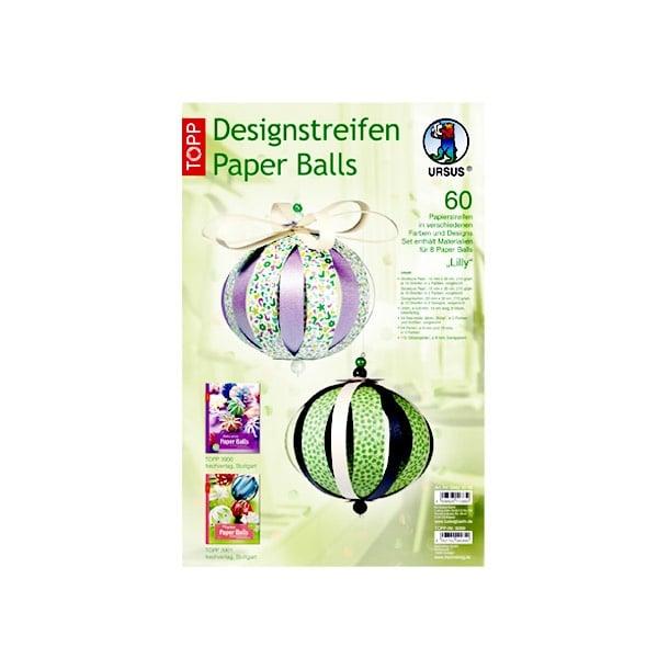 "Комплект, Designstreifen Paper Balls ""Lilly"", Papierset"