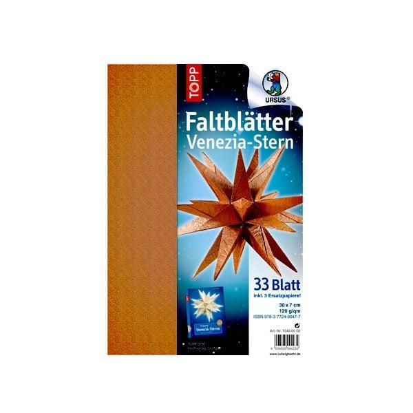 Комплект, Faltblatter Venezia-Stern Kupfer