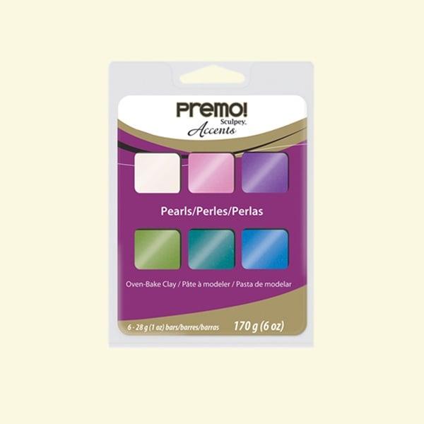 Комплект глина Premo! Accents Sculpey, 6 цвята перлени