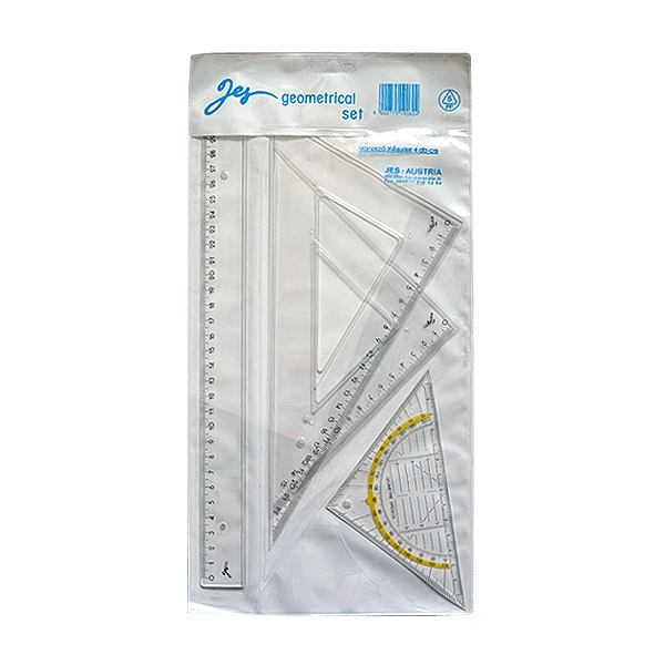 Алуминиево фолио, 20 х 30 см / 0,15 мм, 3 бр., двуцветно - червено и сребристо Комплект линия + 3 триъгълника CretaColor, прозрачни