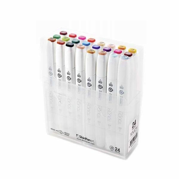 Комплект маркери TOUCH TWIN BRUSH, 24 бр.