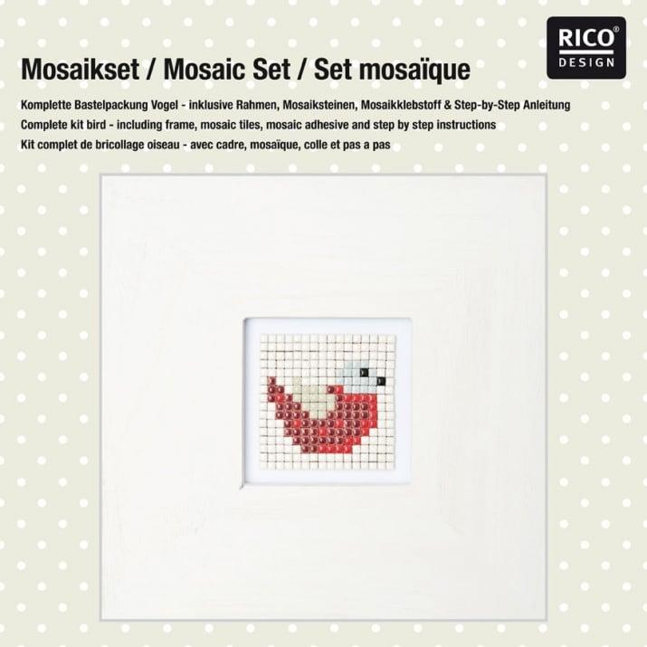 "Комплект микро мозайка RicoDesign, ""Птица"", 31 x 31 x 3 cm"