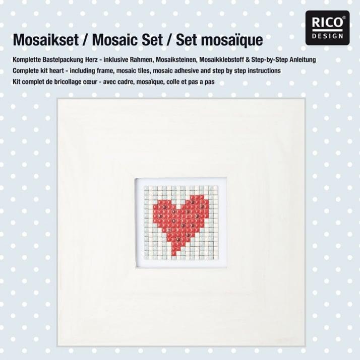 "Комплект микро мозайка RicoDesign, ""Сърце"", 31 x 31 x 3 cm"