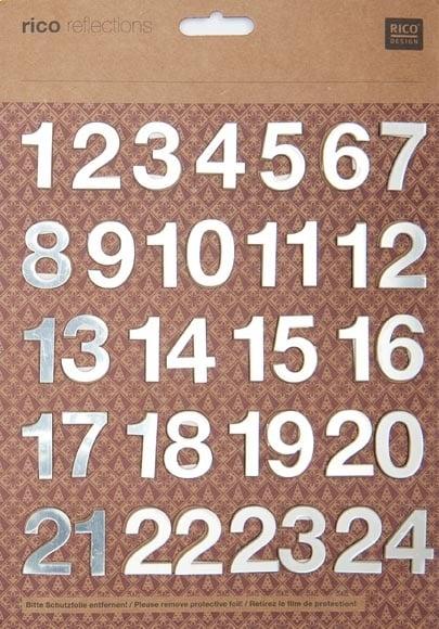 "Комплект огледални цифри RicoDesign, ""1-24"", 21 x 30 cm"