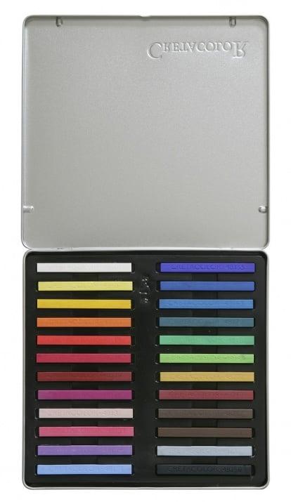 Комплект пастели CretaColor, PASTEL CARRE, 24 цвята