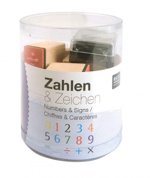 Комплект печати RicoDesign, NUMBERS AND SIGNS, 15 бр., 2,8 x 2 x 2 cm