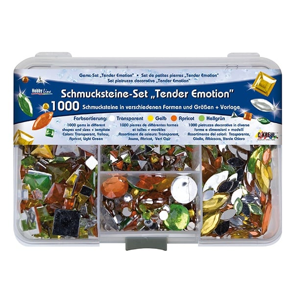 Комплект перли за декорация, 1000 бр., Tender Emotion