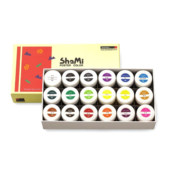 Комплект плакатни бои SHAMI POSTER COLOR, 20 ml Комплект плакатни бои SHAMI POSTER COLOR, 20 ml, 18 цв.