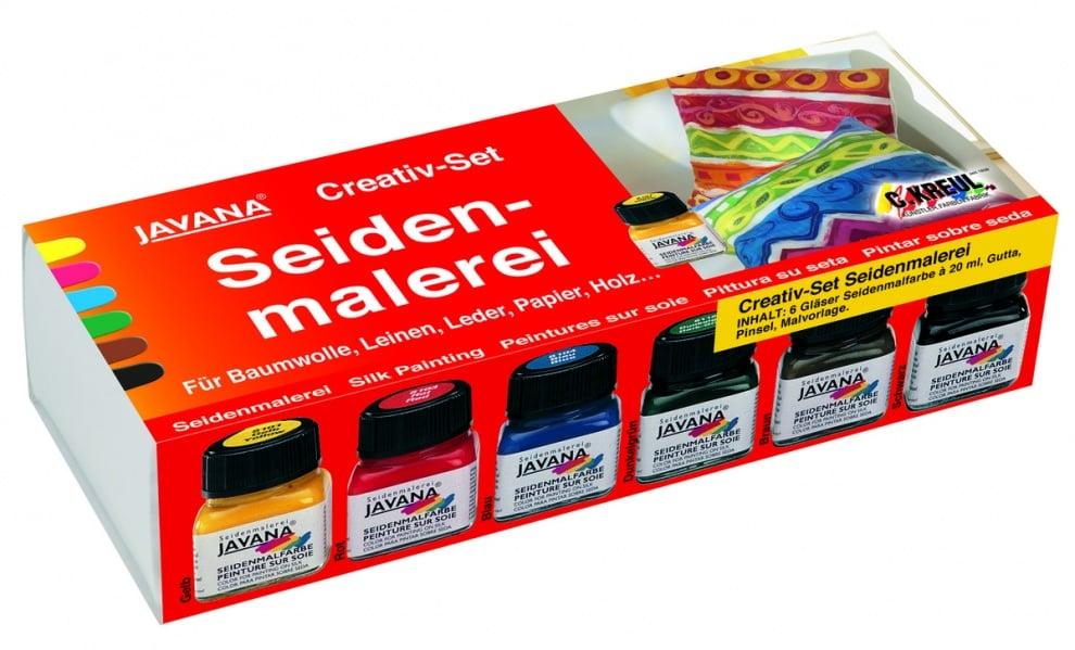Комплект рисуване върху коприна SILK JAVANA, STANDART colors, 9 ч.