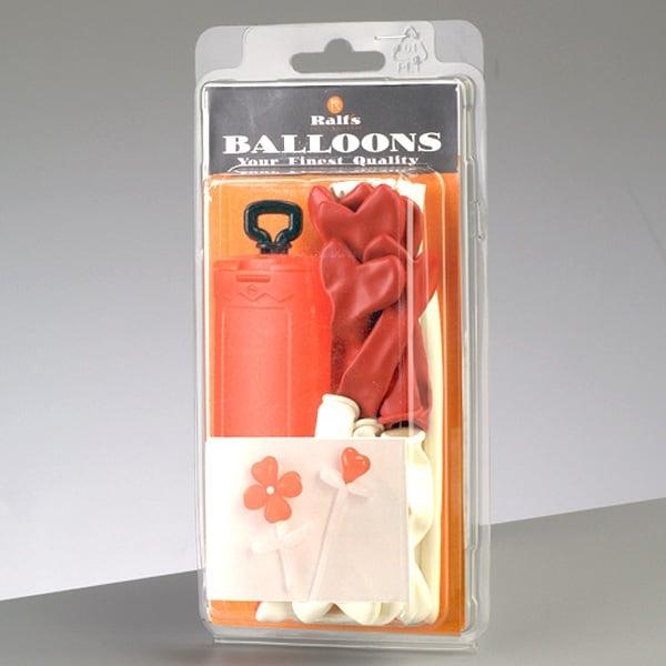 Комплект сърцевидни и моделиращи балони, 16 части