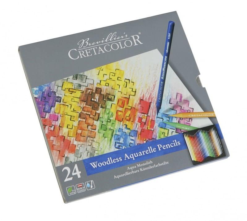 Алуминиево фолио, 20 х 30 см / 0,15 мм, 3 бр., двуцветно - червено и сребристо Комплект сърцевини CretaColor, AQUA MONOLITH, 24 цвята
