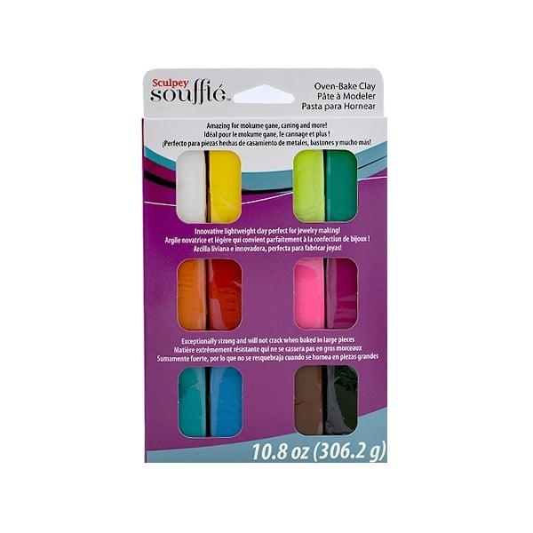 Алуминиево фолио, 20 х 30 см / 0,15 мм, 3 бр., двуцветно - червено и сребристо Комплект Sculpey Souffle Multipack, 12 цвята x 25g