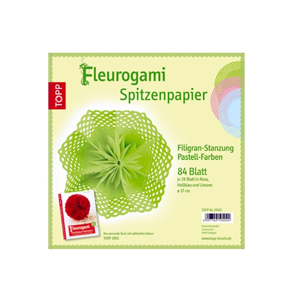 Комплект, Spitzenpapier Filigran pastell, Papierset
