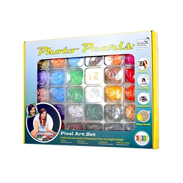 Алуминиево фолио, 20 х 30 см / 0,15 мм, 3 бр., двуцветно - червено и сребристо Комплект стартов със софтуер Photo Pearls®, O 5 x H 5 mm, 7.500 части