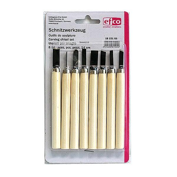 Алуминиево фолио, 20 х 30 см / 0,15 мм, 3 бр., двуцветно - червено и сребристо Комплект за дърворезба, 8 части, 14 cm