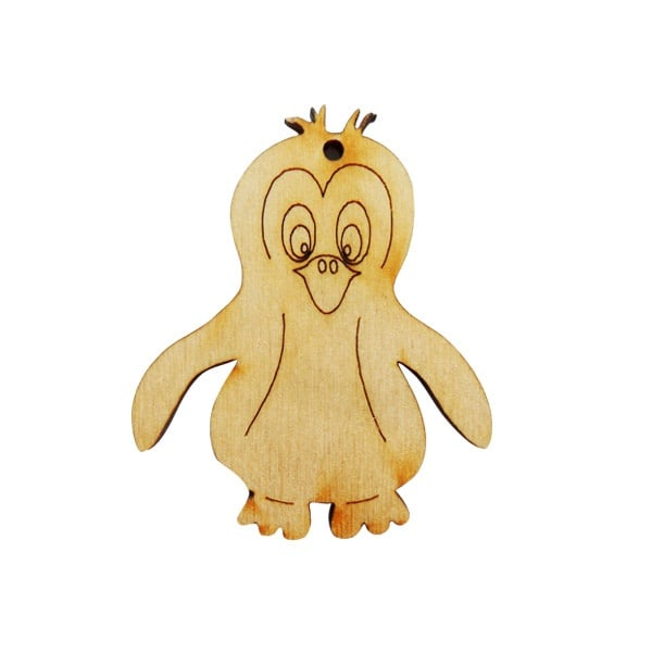 Комплектът дървени деко фигурки Полярни животни, 9 части