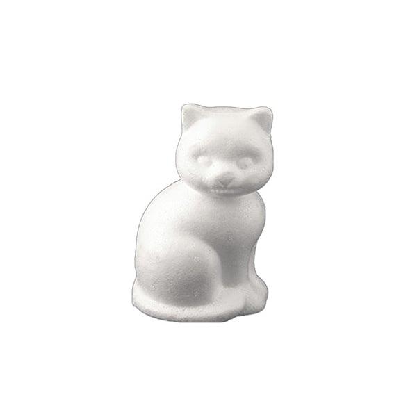 Коте от стиропор, бял, Н 130 mm