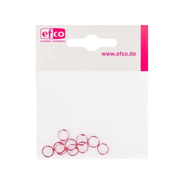 Алуминиево фолио, 20 х 30 см / 0,15 мм, 3 бр., двуцветно - червено и сребристо Кръгли халки ф 7 mm, 20 бр., розови