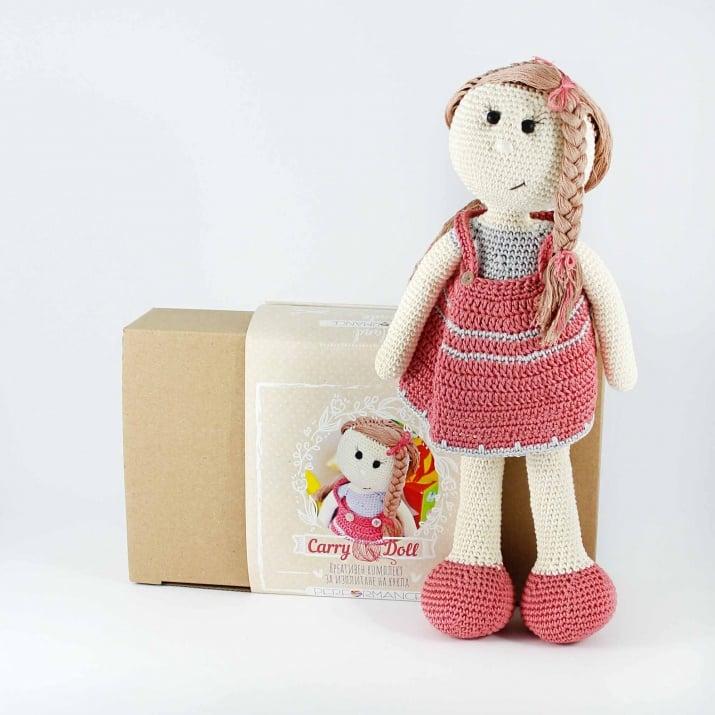 Алуминиево фолио, 20 х 30 см / 0,15 мм, 3 бр., двуцветно - червено и сребристо Креативен комплект за плетене с инструкции, Кукла Кари