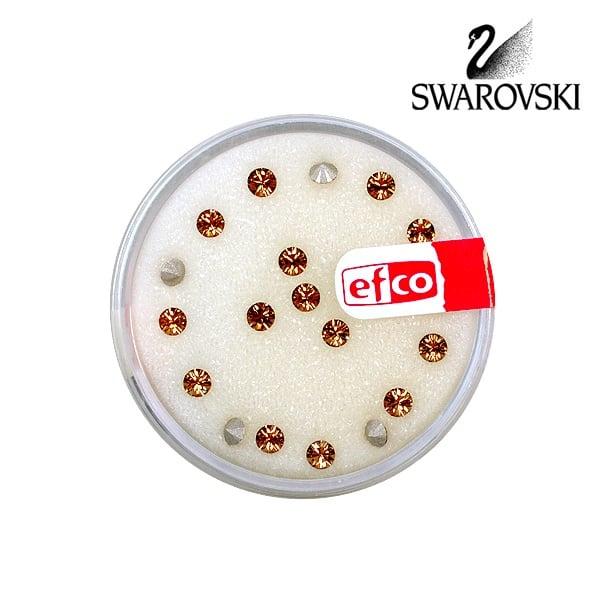 Кристали Swarovski Chatons, ф 3 mm, 20 бр. Кристали Swarovski Chatons, ф 3 mm, 20 бр., светъл опушен топаз