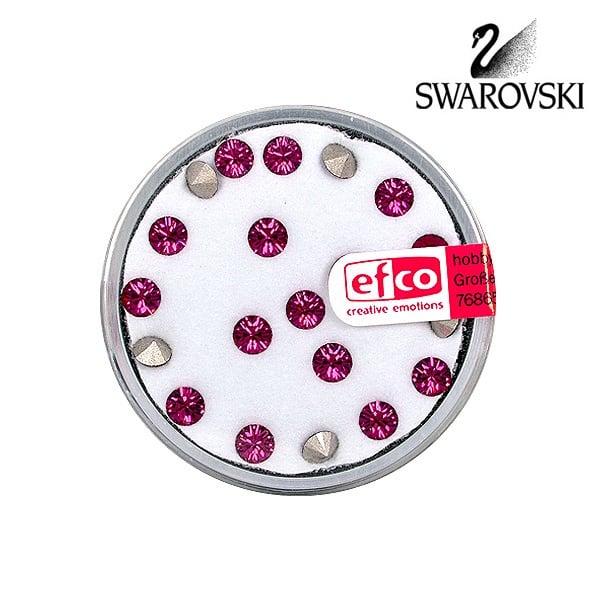 Кристали Swarovski Chatons, ф 4 mm, 20 бр. Кристали Swarovski Chatons, ф 4 mm, 20 бр., фуксия