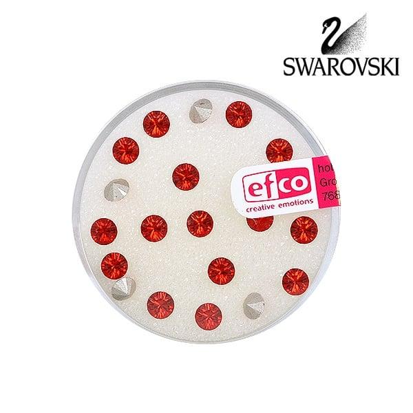 Кристали Swarovski Chatons, ф 4 mm, 20 бр. Кристали Swarovski Chatons, ф 4 mm, 20 бр., светъл сиам