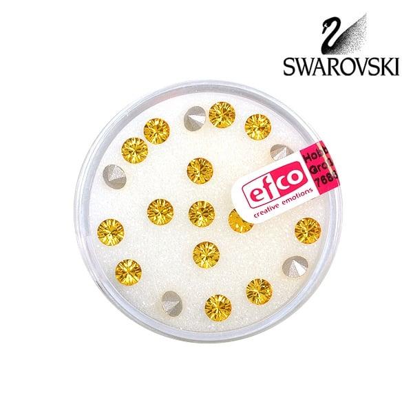 Кристали Swarovski Chatons, ф 4 mm, 20 бр. Кристали Swarovski Chatons, ф 4 mm, 20 бр., светъл топаз
