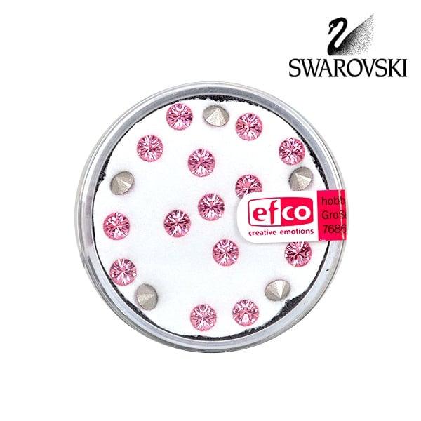 Кристали Swarovski Chatons, ф 4 mm, 20 бр. Кристали Swarovski Chatons, ф 4 mm, 20 бр., светла роза