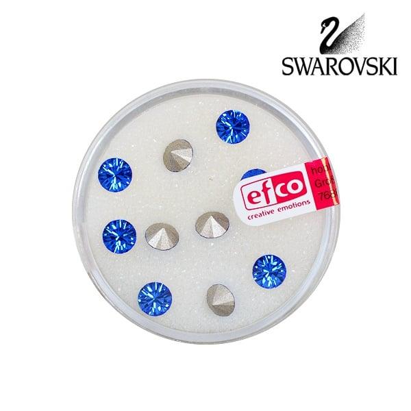 Кристали Swarovski Chatons, ф 5 mm, 10 бр. Кристали Swarovski Chatons, ф 5 mm, 10 бр., сапфир