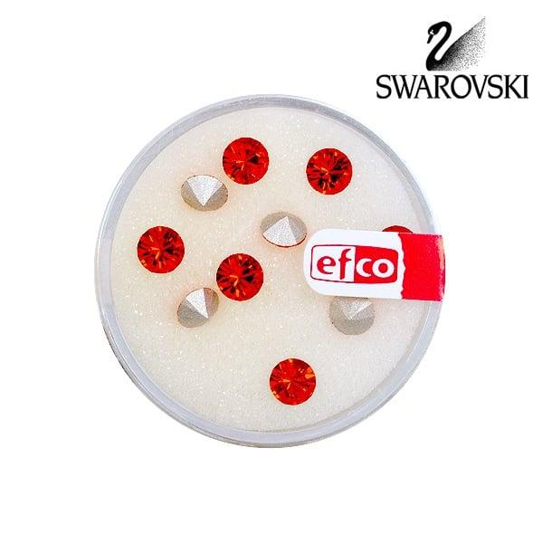 Кристали Swarovski Chatons, ф 5 mm, 10 бр. Кристали Swarovski Chatons, ф 5 mm, 10 бр., светъл сиам