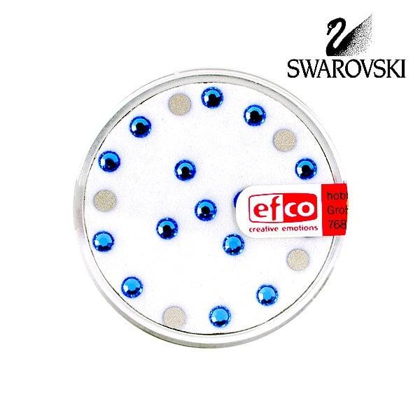 Кристали Swarovski, едностранно плоски, ф 3 mm, 20 бр. Кристали Swarovski, едностранно плоски, ф 3 mm, 20 бр., сапфир