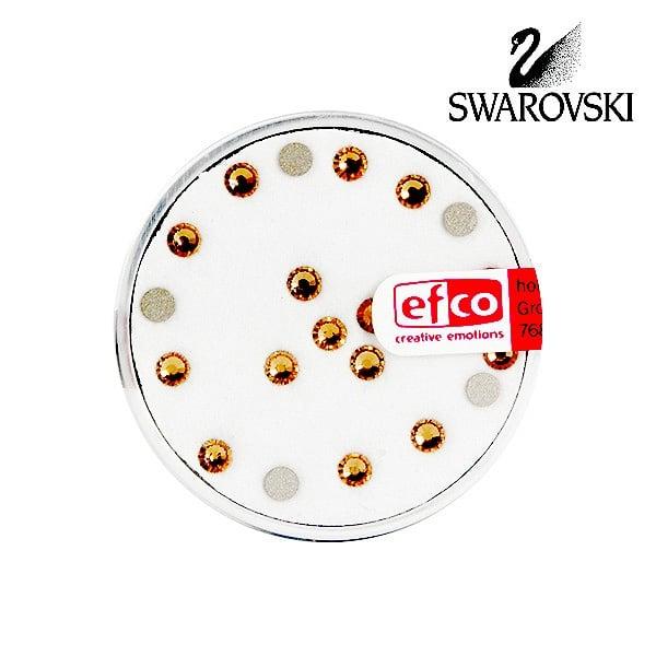 Кристали Swarovski, едностранно плоски, ф 3 mm, 20 бр. Кристали Swarovski, едностранно плоски, ф 3 mm, 20 бр., светъл топаз