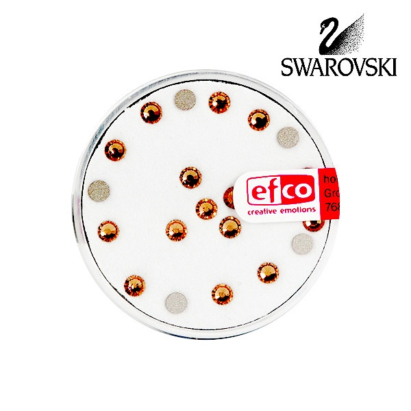 Кристали Swarovski, едностранно плоски, ф 3 mm, 20 бр. Кристали Swarovski, едностранно плоски, ф 3 mm, 20 бр., топаз