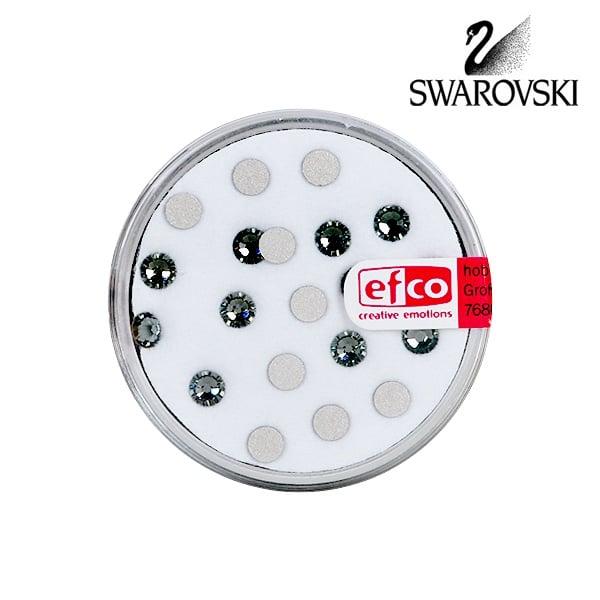 Кристали Swarovski, едностранно плоски, ф 4 mm, 20 бр. Кристали Swarovski, едностранно плоски, ф 4 mm, 20 бр., черни