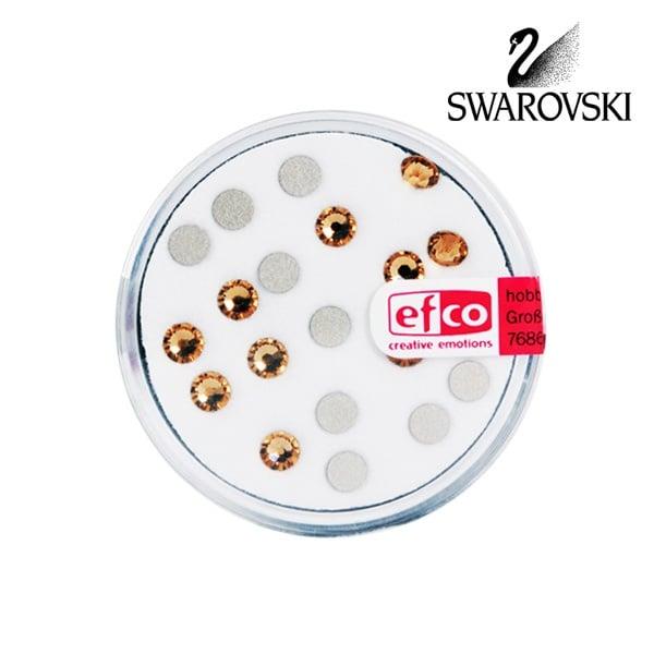 Кристали Swarovski, едностранно плоски, ф 4 mm, 20 бр. Кристали Swarovski, едностранно плоски, ф 4 mm, 20 бр., светъл топаз