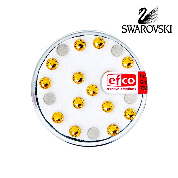 Кристали Swarovski, едностранно плоски, ф 4 mm, 20 бр. Кристали Swarovski, едностранно плоски, ф 4 mm, 20 бр., светло жълти