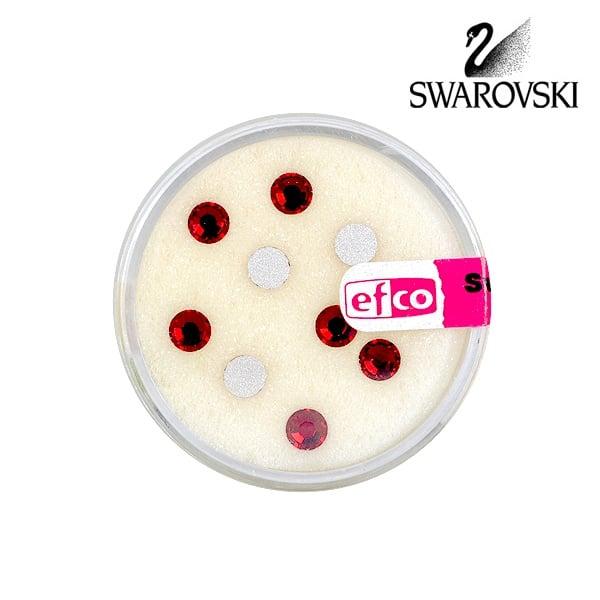 Кристали Swarovski, едностранно плоски, ф 5 mm, 10 бр. Кристали Swarovski, едностранно плоски, ф 5 mm, 10 бр., Сиам