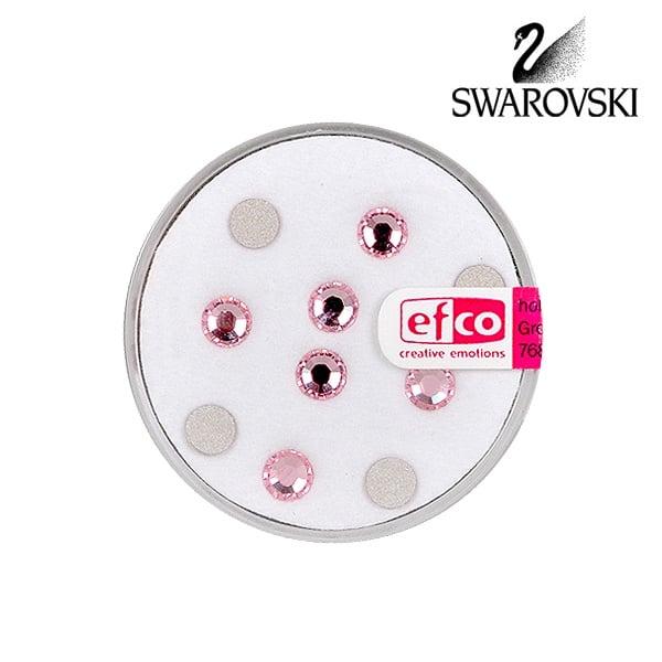 Кристали Swarovski, едностранно плоски, ф 5 mm, 10 бр. Кристали Swarovski, едностранно плоски, ф 5 mm, 10 бр., св. розови