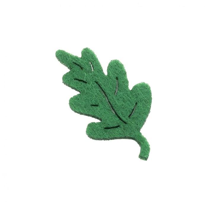 Деко фигурка дъбов лист, Filz, 50 mm, тъмнозелен