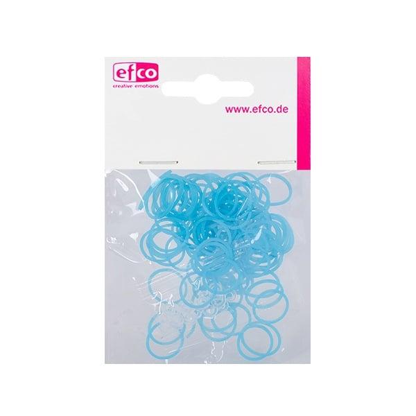 Ластички за плетене на гривни Rubber Loops, 100 бр., неоновосини