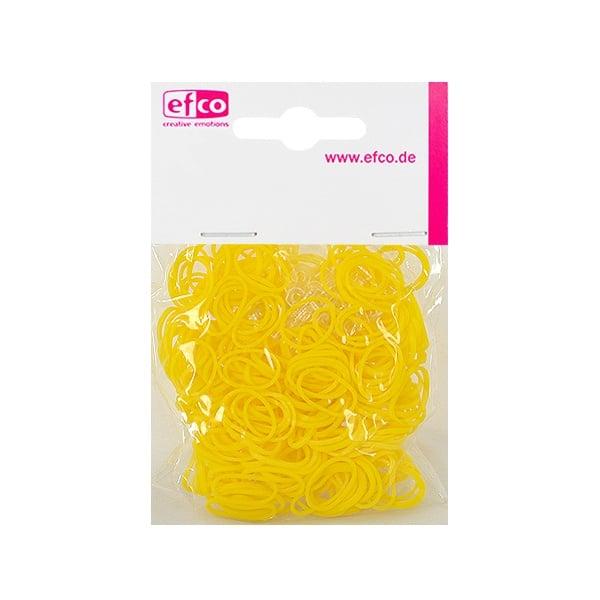 Ластички за плетене на гривни Rubber Loops, 300 бр., жълти