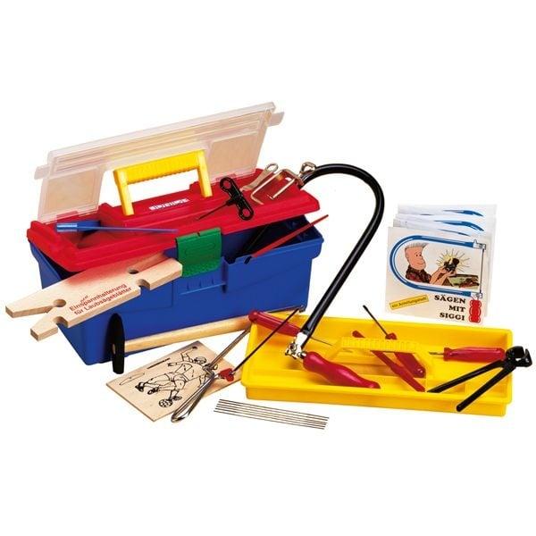 Основен комплект за дървообработване в пластмасов куфар