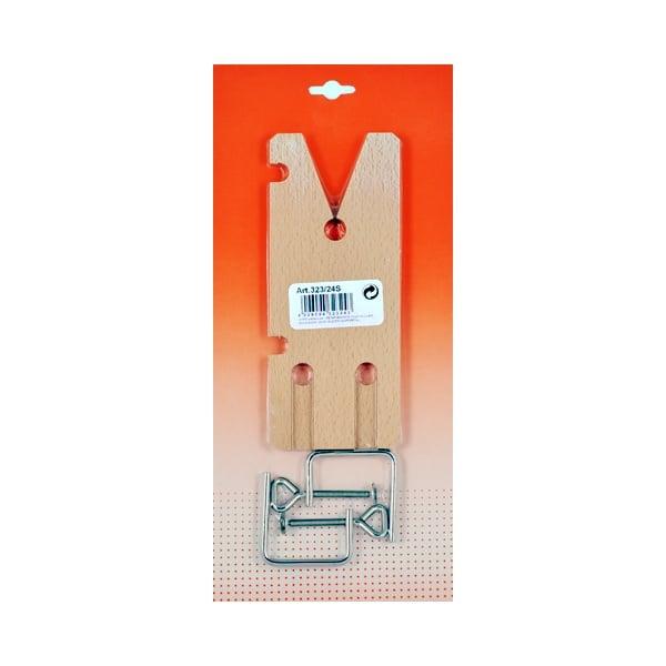 Дървена дъска за рязане със скобa