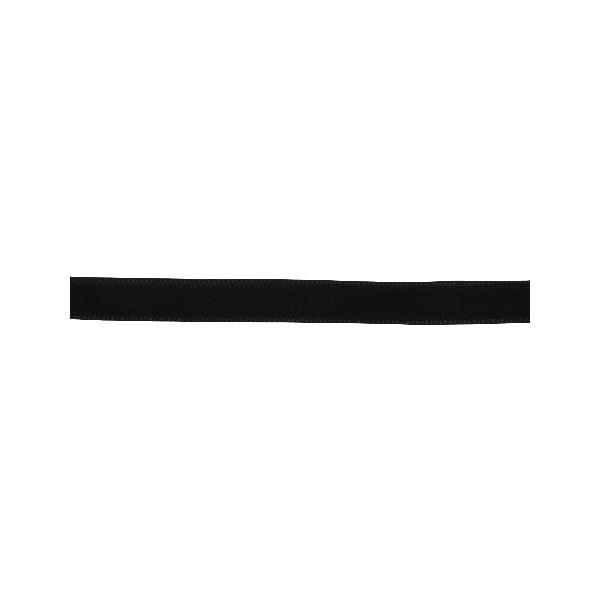 Лента кадифена с кант, 6 mm, 3m Лента кадифена с кант, 6 mm, 3m, черна