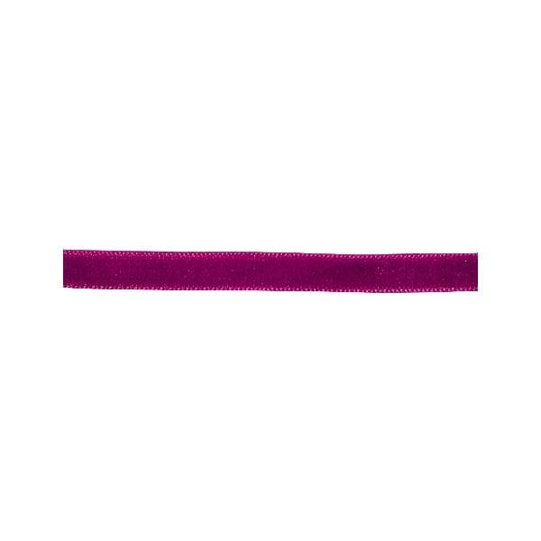 Лента кадифена с кант, 6 mm, 3m Лента кадифена с кант, 6 mm, 3m, лилава