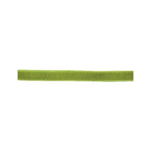 Лента кадифена с кант, 6 mm, 3m Лента кадифена с кант, 6 mm, 3m, светло зелена